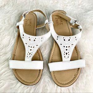 Naturalizer white sandals